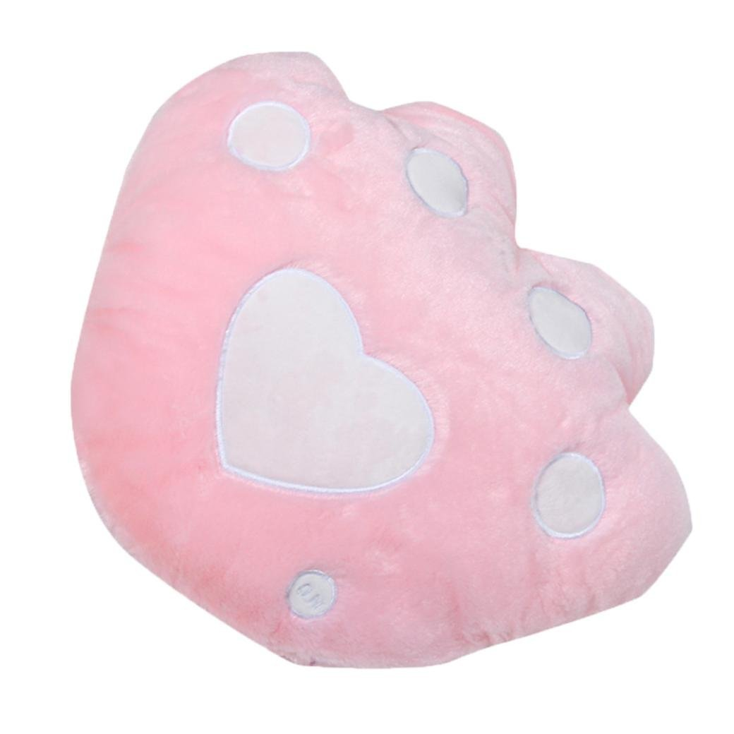 Cute LED Pillow, Malltop 7 Color Changing Light Up Glowing Bear Paw Shaped Cushion