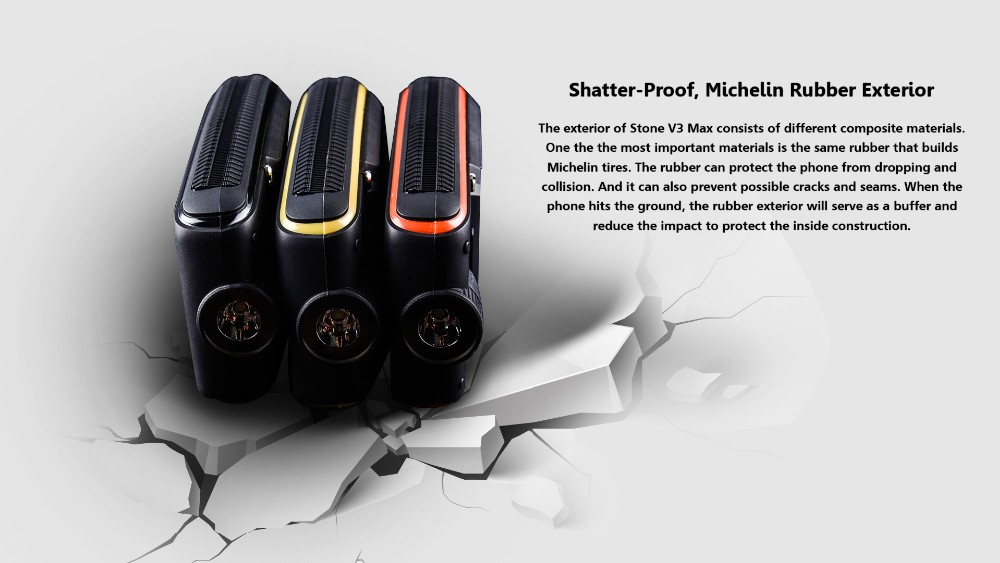 VKWORLD Stone V3 Max 2.4 inch Big Battery 5300mAh,Waterproof,Dustproof and Dropproof IP68 OTG Support Mobile Phone
