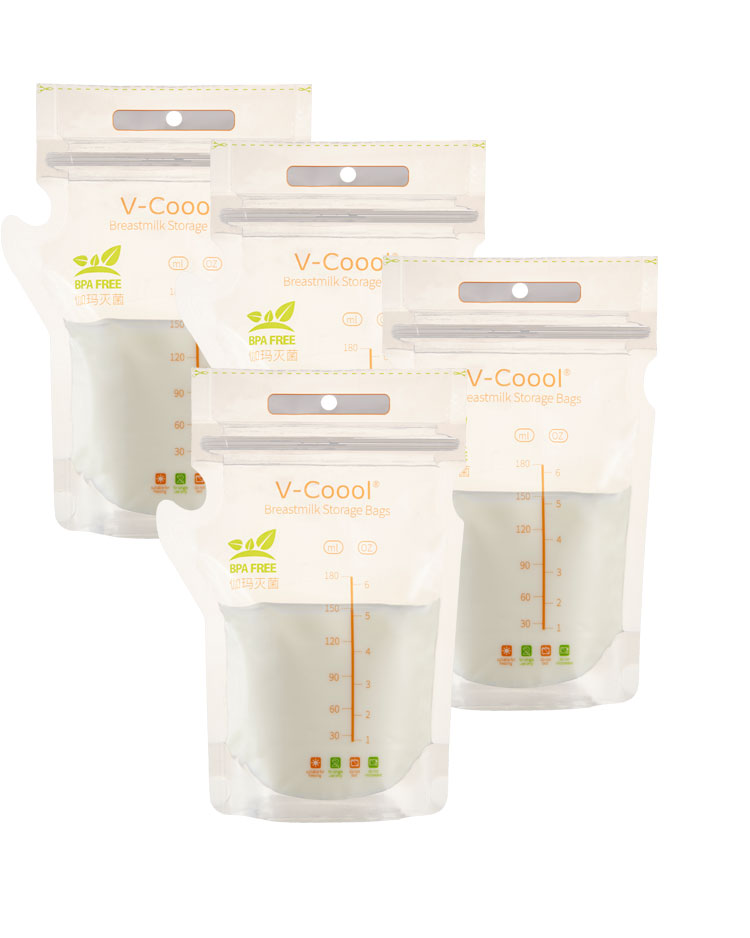 Bolsas de almacenamiento de leche materna dise/ño de tetera esterilizada sin BPA