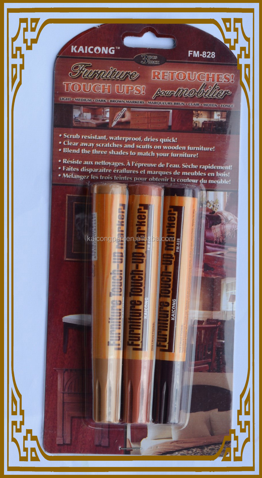 Wood Furniture Touch Up Markers Wood Stain Scratch Repair