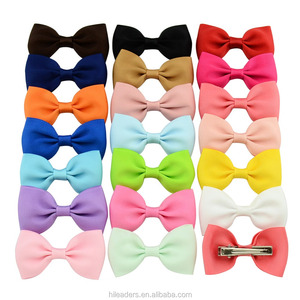 Solid Color Beautiful Ribbon Hair Bow Knot With Clip