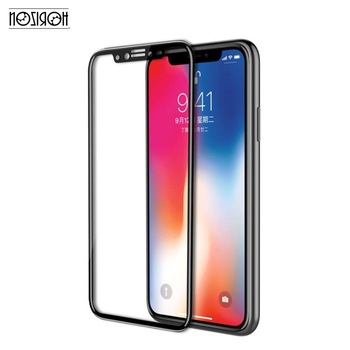For iPhone XS tempered screen protector, New arrival Explosion-proof 5.8inch 6.1 inch 6.5 inch black tempered glass screen