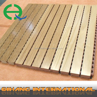 high quality wood fiber acoustic panel/perforated panel/acoustic mdf for decoration