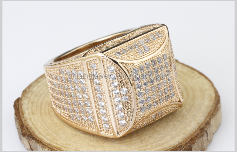 Mens Rose Gold Plated Micro Pave Hip Hop Bling Iced Out Cz