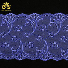 Fashion stoned fabric lace embroidery graceful lace for wedding