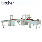 Brother Packaging Automatic Carton Box Sealing Strapping Packing Line Machine APL-CSS03