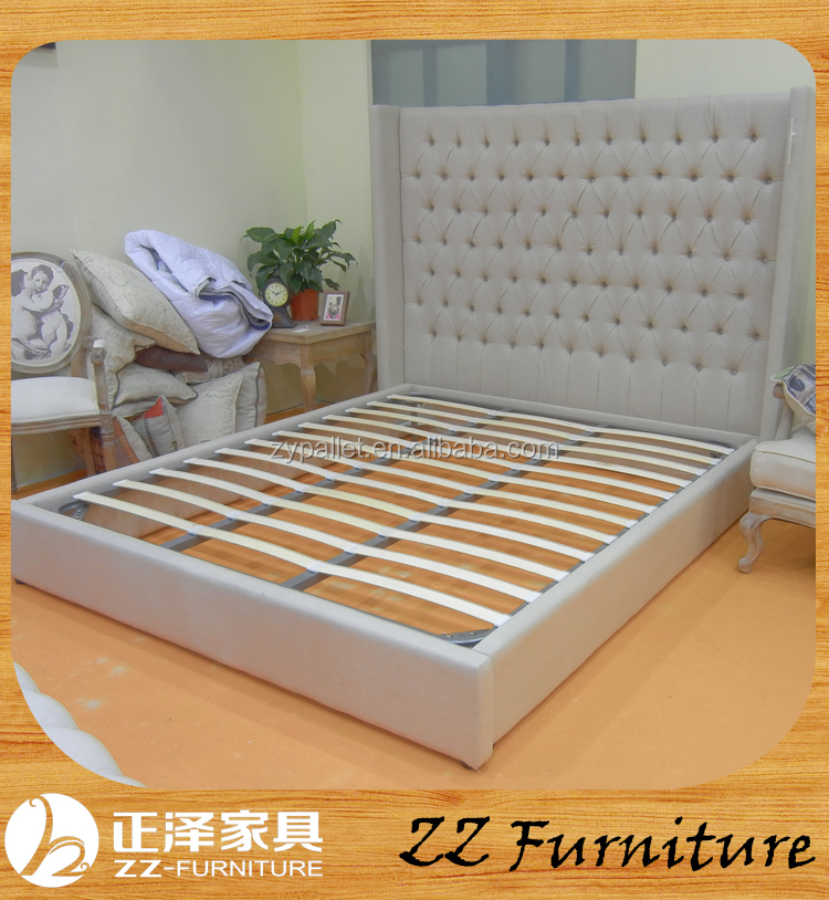 French style Queen Size bedroom furniture antique wooden bed design