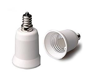 E-simpo® E12 to E26/e27 Adapter,e12 to E26/e27 Lamp Base Converter, Converts Chandelier Socket (E12) to Medium Socket (E26/e27),free Ship, Z1036 (100-pack)