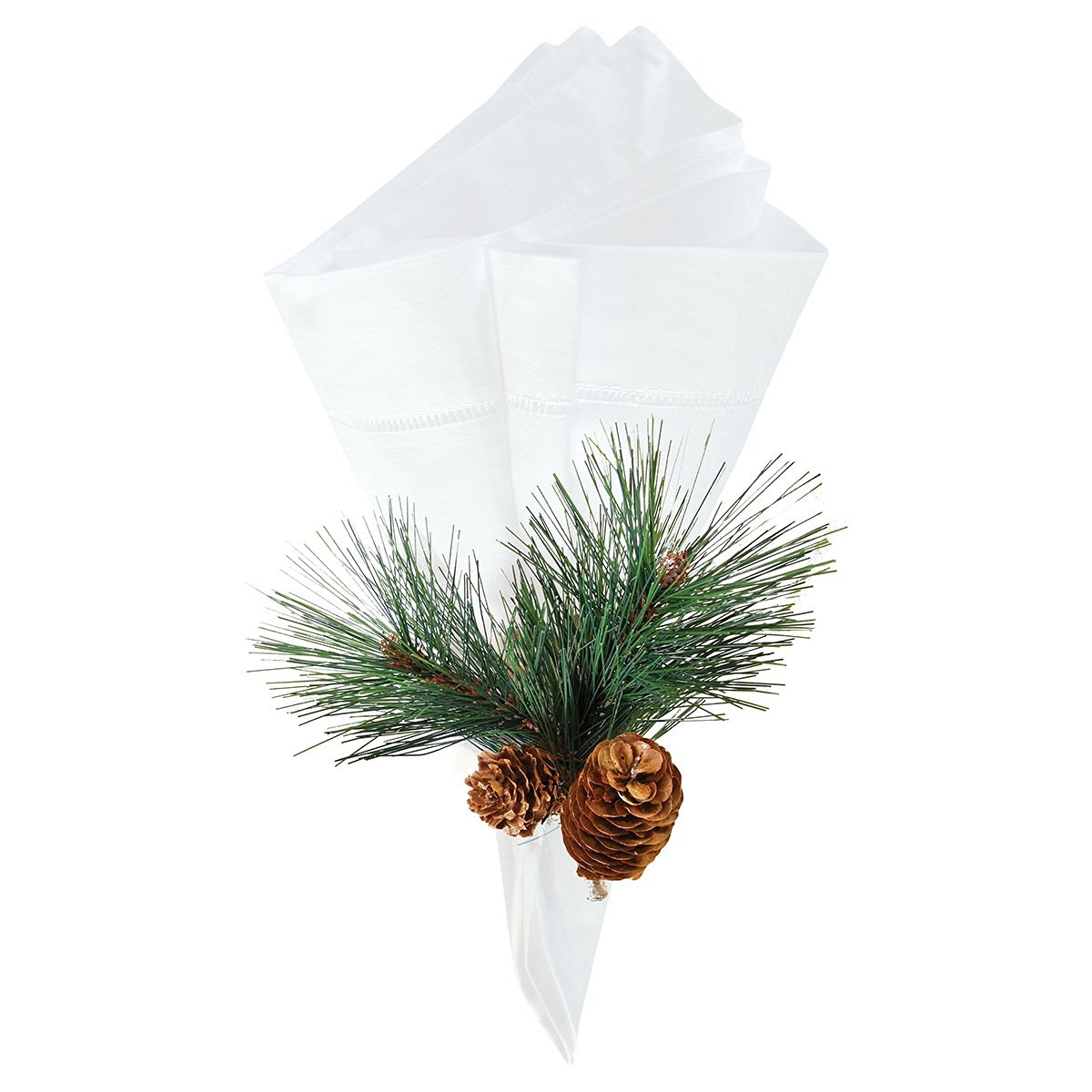 """Set of 4 Pcs, 1.5"""" Pine Cone Napkin Ring, Christmas, Rustic Lodge Country Cabin"""