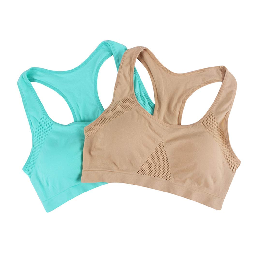 43373f37d Get Quotations · CTRICKER 2Pcs Women Shockproof Plus Size Yoga Sport Bra  Breathable Fitness Underwear