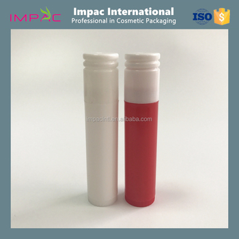 Small PP plastic slim round 5g lip balm tube with cute cap