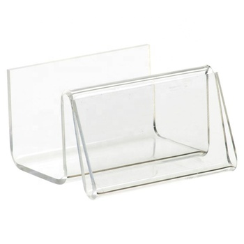 Horizontal acrylic tent card holder/business card display stand
