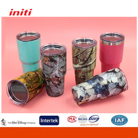 Customized Insulated Drinkware 20oz 30oz Tumbler Cups with Tritan Lid