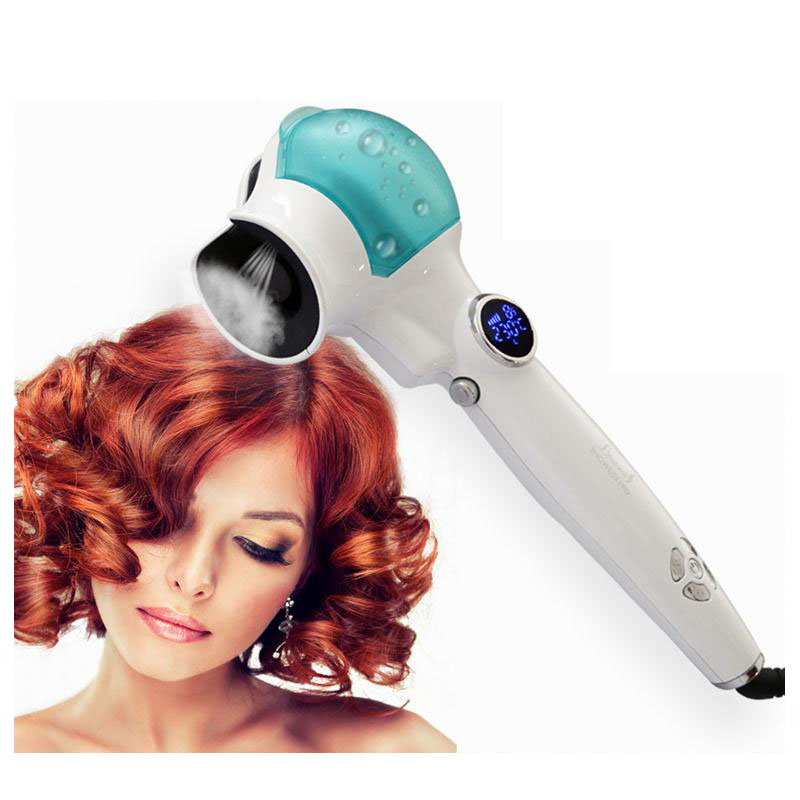 Professional Hair Styling Tools Steam LCD Hair Curler
