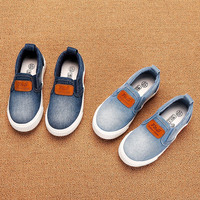10-61(2) Direct Factory Hot Sales New Arrived Kids Casual Shoes Cheap Children Denim Canvas Shoes Footwear