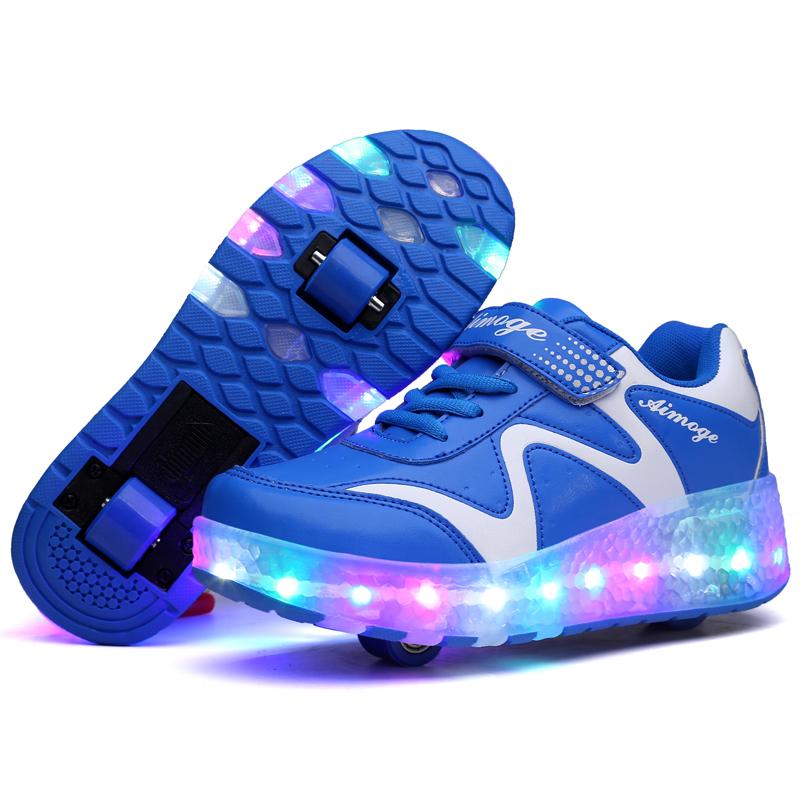 Rodas roller skate 4 acender Fasion Estilo led rolo sapatos para crianças