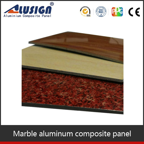 Alusign marble pattern aluminum composite roof panels acp