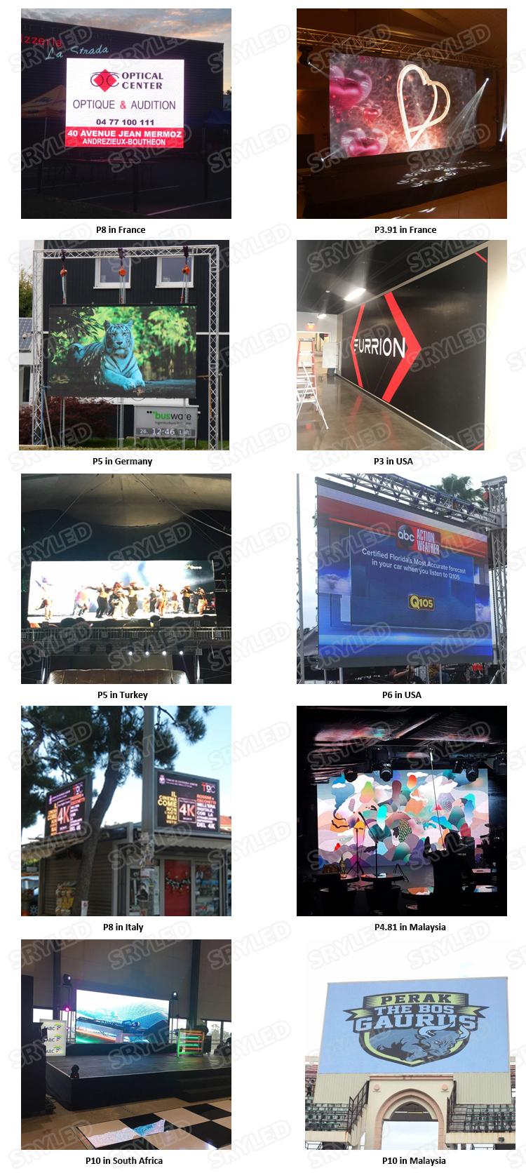 Outdoor Mobile Advertising Truck Van Trailer P6 P8 P10 Led Display Screen