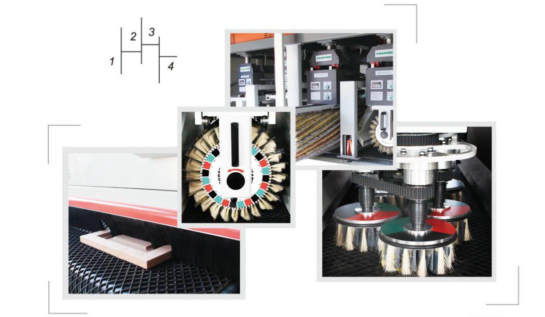 Mdf Spaanplaat Vloer Deur Hout Borstel Polijsten Machine