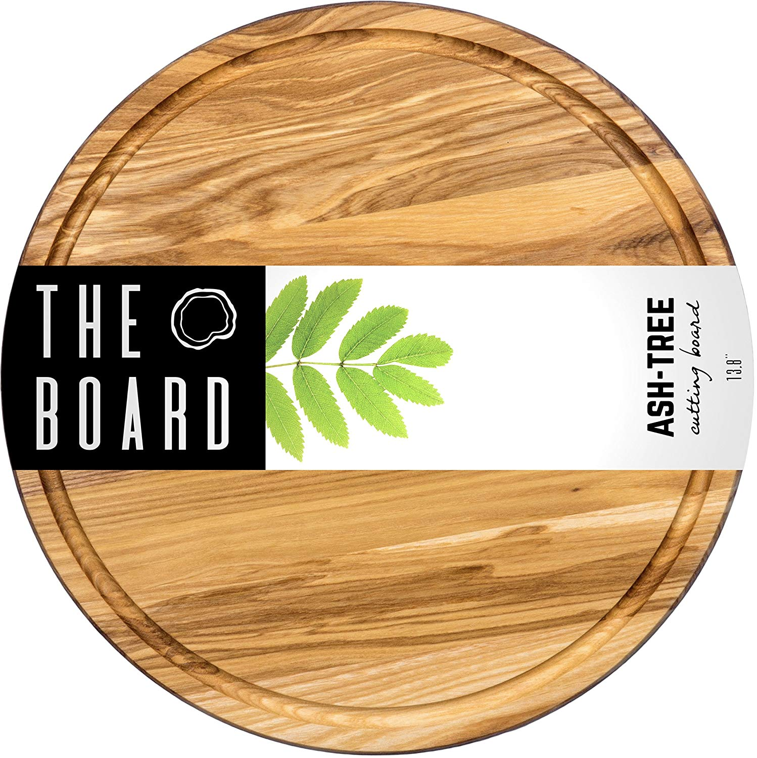 """Wood Cutting Board 13"""" Round Ash Wood Cutting board More Reliable than Bamboo Cutting Board and Plastic Cutting Boards Serving board Chopping Board"""