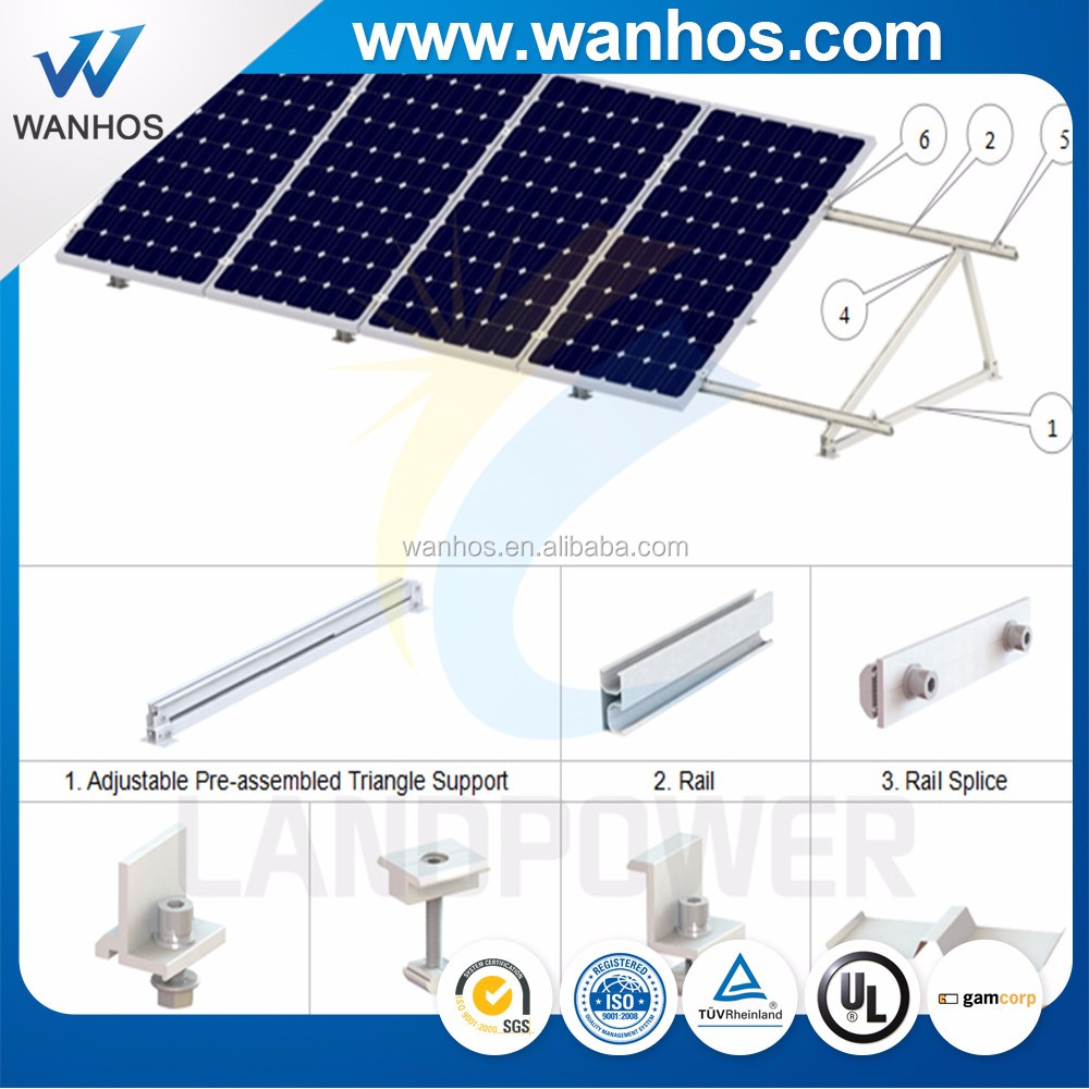 2019 New Adjustable Flat Roof Mounting Solar Panels Solar