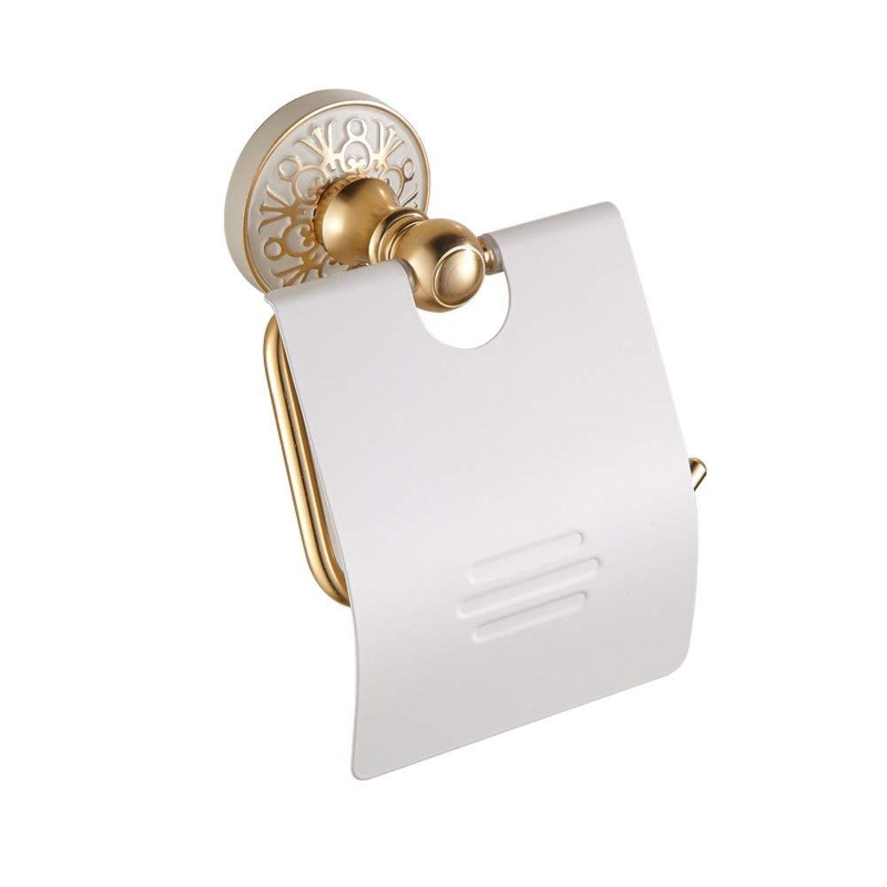 White Toilet paper holder,Restroom Toilet roll holder Punch-free Toilet paper shelf Space aluminium Toilet paper holder-A