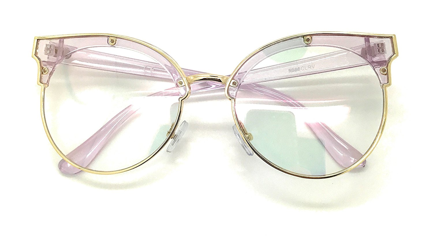516a4ce9af Get Quotations · Clear Lens Vintage Cateye Optical Eyeglasses Frame Plain  Oversized Glasses