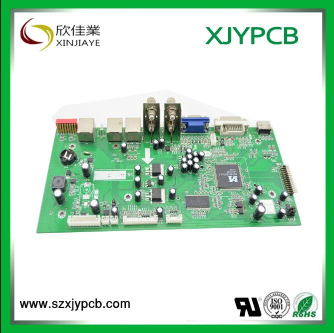 HDI multilayer pcb Lead Free HASL multilayer pcb with green solder mask and white silkscreen