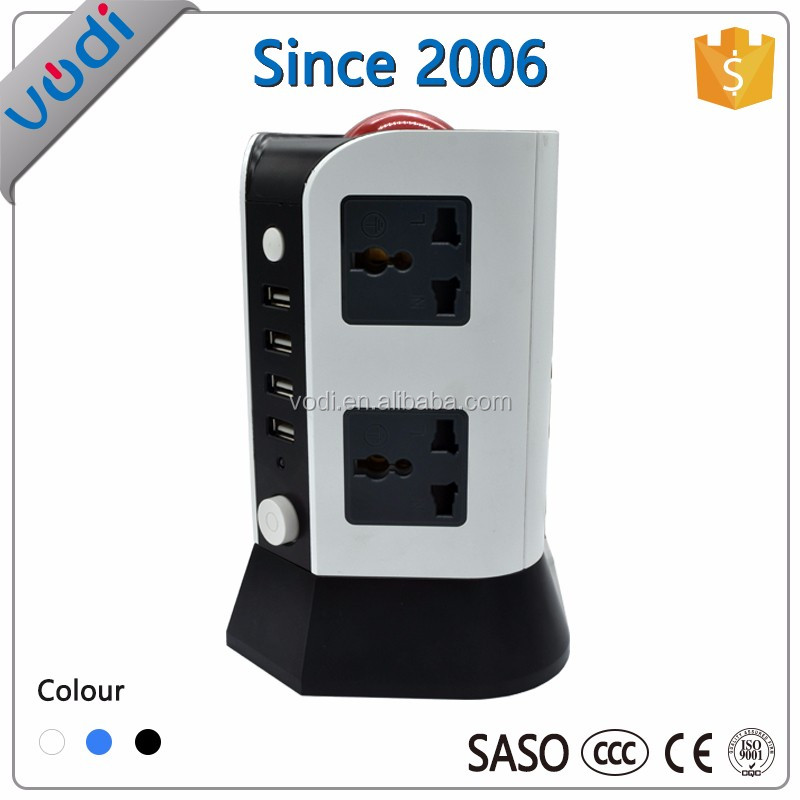 Hot Sale 220V universal travel adapter tower socket power strip with usb port