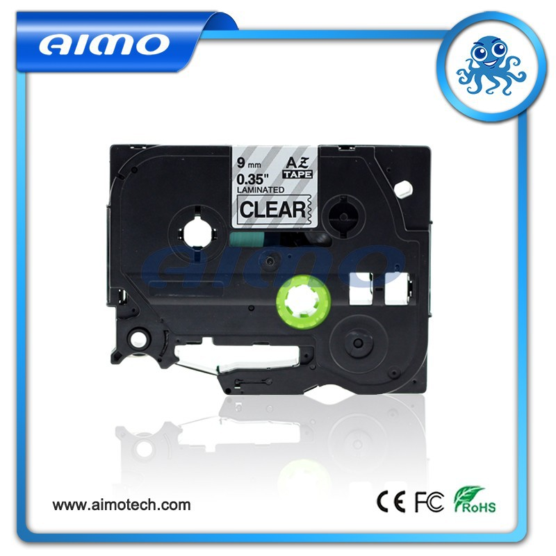 compatible label tape aimo tze-121 black on clear