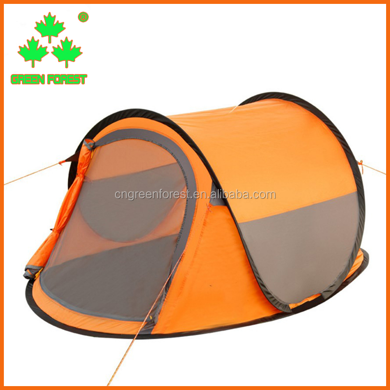 automatic fast opening camping double resident tent