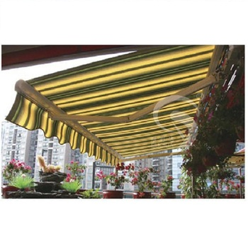 High Quality Retractable Sunshade Rain Protected Aluminum Coffee Awning