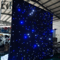 white or black lighted stage decoration backdrop curtain for wedding event party concert