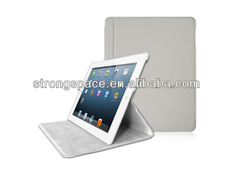 Durable folio leather case for ipad of apple ipad 4 tablet protection from China manufacturer