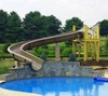 Hotel swimming pool curve fiberglass water slide for sale