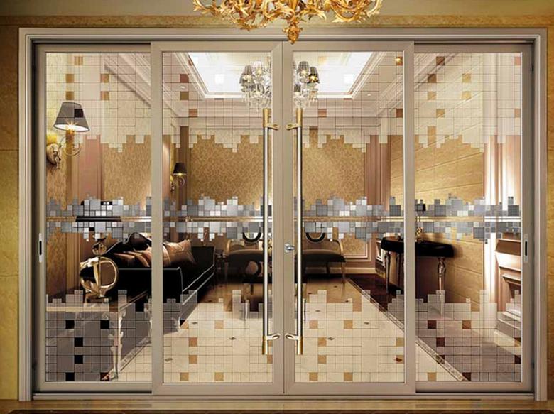 Aluminium Interior Sliding Pocket Doors Decorative Door
