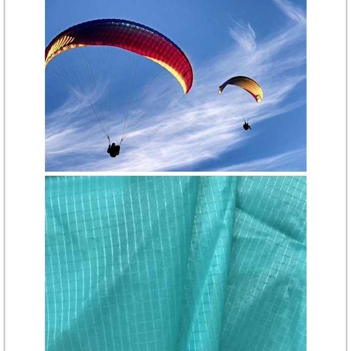 Silicone Coated <strong>Nylon</strong> 66 material Ripstop Fabric for Parachute