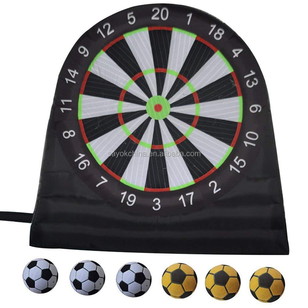Popular cheap  outdoor dartboard foot darts soccer foot  football game inflatable darts board for sale