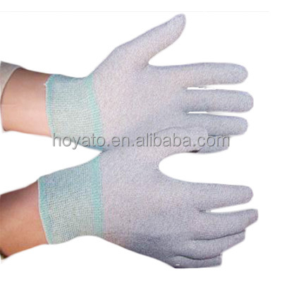 Hot sale HOYATO cheap price antistatic soft anti-static esd top fit glove