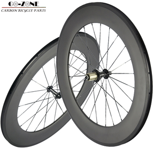 carbon road wheels 88mm clincher tubular wheelset 700c carbon road bike carbon bicycle wheels with powerway R13 hubs