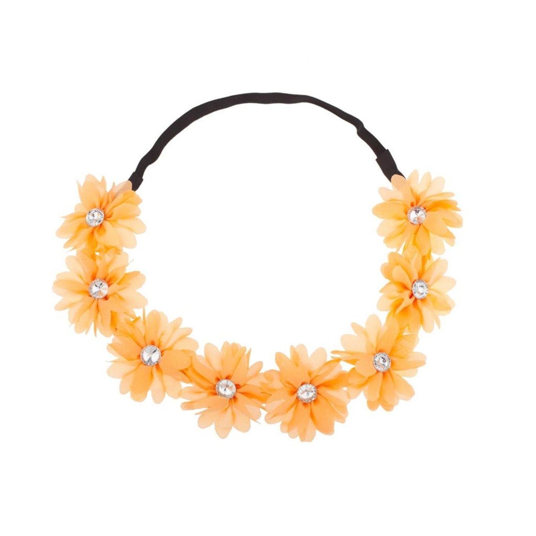 Cheap flower crown diy find flower crown diy deals on line at get quotations lux stretch fit floral headband head crown flower crown head piece tangerine izmirmasajfo