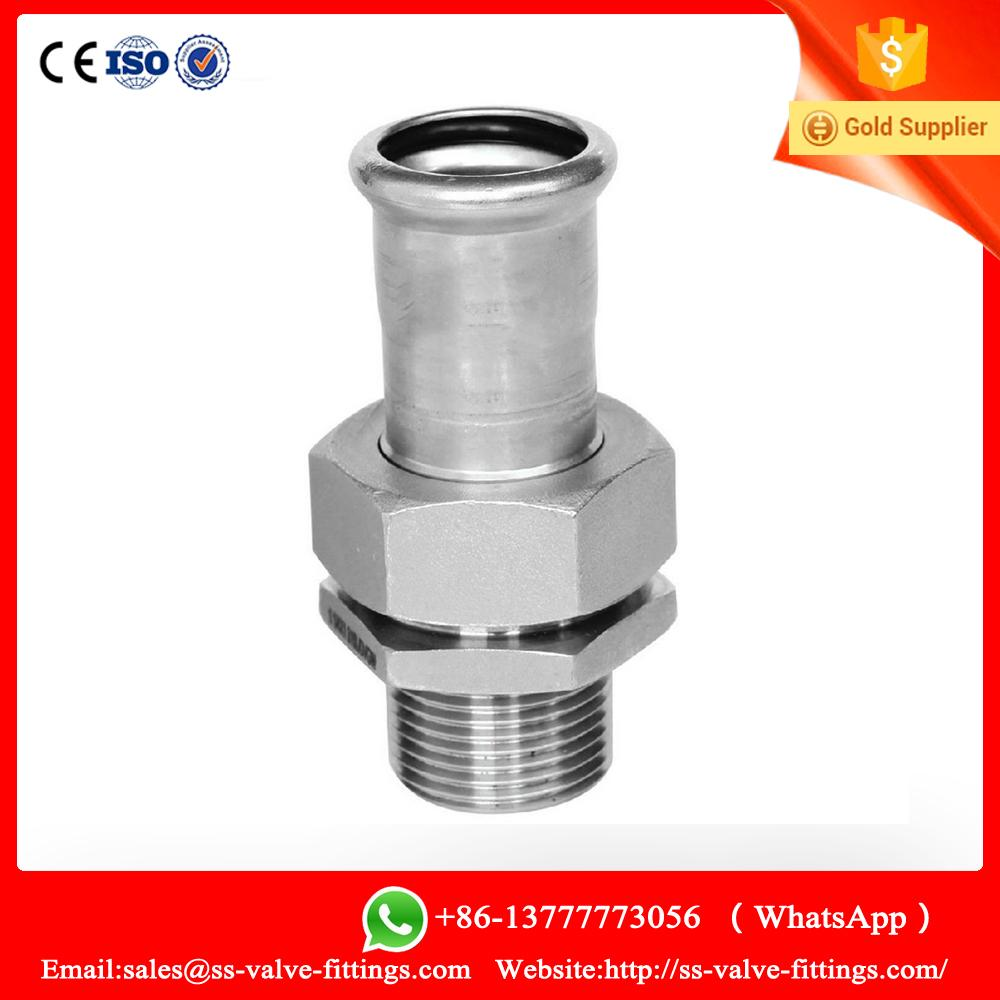 SS304 Male threaded end Coupling press-fitting joint