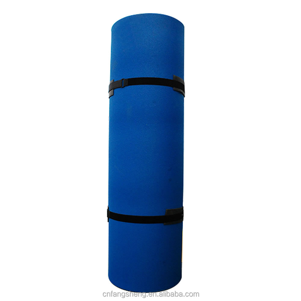 2 layers 15'x6' patent foam inflatable floating yoga mat for lakes With safe net