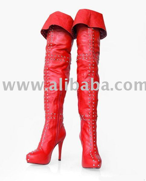 2010 New Thigh High dress boots, fashion leather lady shoes, high heels