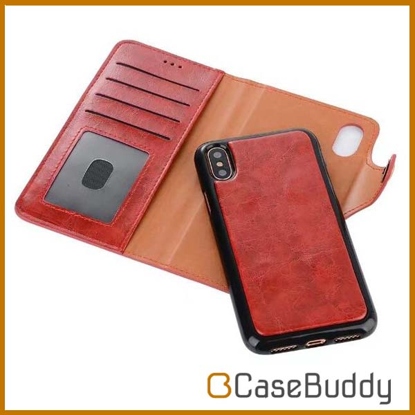 for iphone x wallet case photo frame,casebuddy high quality card holder leather case for iphone x