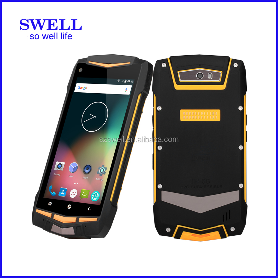5inch rugged smartphone 4G LTE communication program android5.1 mobile waterproof IP68 NFC dual sim V1