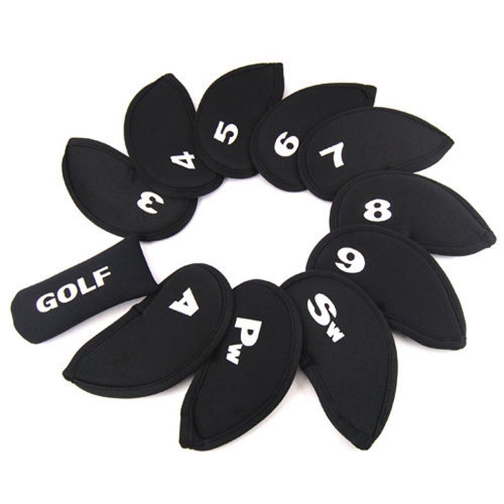 edealing(TM) 2SET Golf Iron Club Covers Case Putter Head Headcovers Neoprene Sets