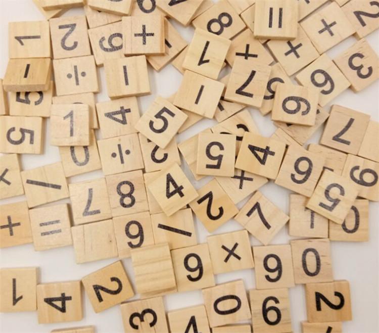 FQ 100pcs marca original cor diferentes estilos de madeira grande de madeira letras do alfabeto