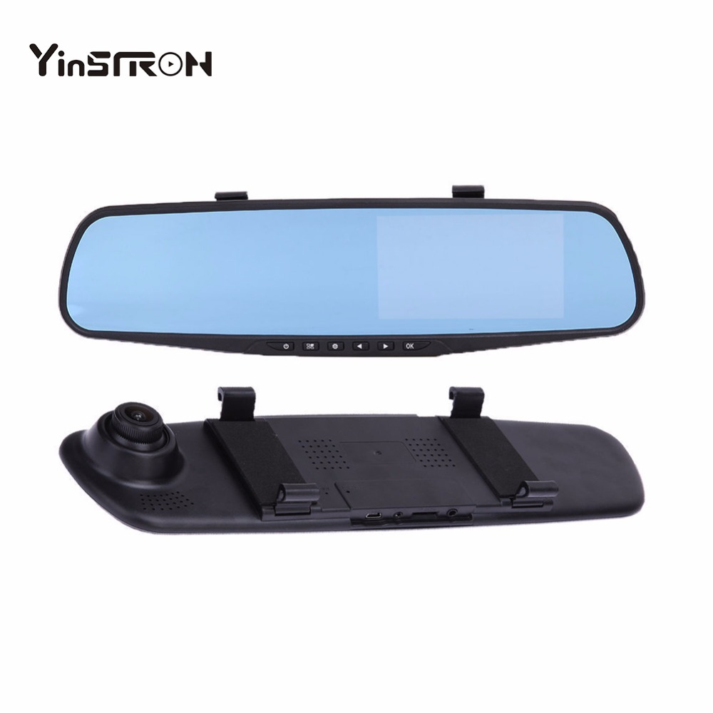 "Best Price Car Dash Cam, 4.3"" LCD FHD 1080p Dual Lens T507 Mirror Dash Cam With Reverse Camera"