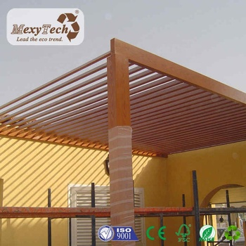 Foshan Wpc Wooden Pergola Sunshade In The Park